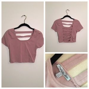 Charlotte Russe Mauve Crop Top Small
